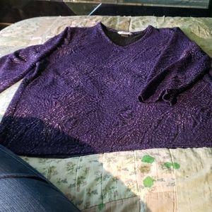 Alia Ladies Purple with Silver Threading Size L